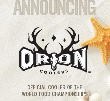 World Food Championships Announces Official Cooler Agreement With Orion