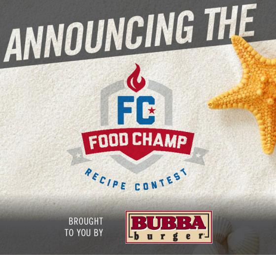 """Your Burger to the Beach"" BUBBA burger Food Champ Online Recipe Contest"