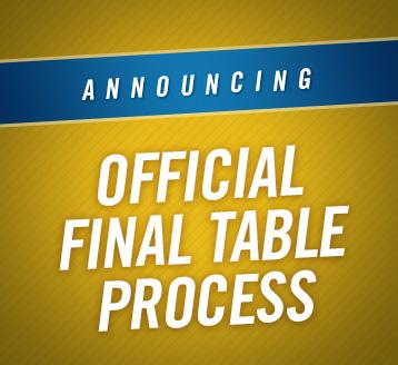 WFC Announces Final Table Process