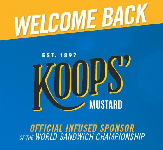 Returning Sandwich Sponsor Koops' Up With The World Food Championships In Dallas