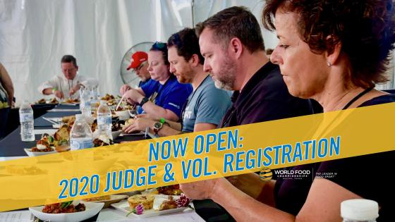 Registration Opens For WFC 2020 Judges and Volunteers