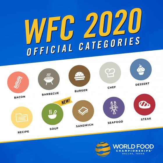 The World Food Championships Announces 2020 Categories