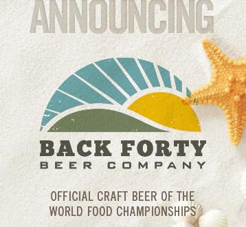 WFC Announces Back Forty Beer as Official Craft Beer Partner