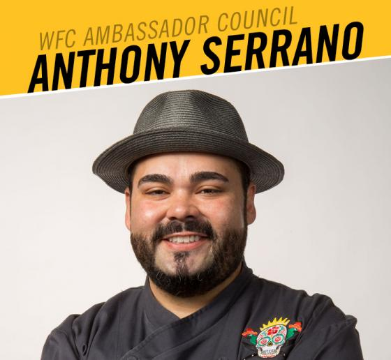 WFC Adds Chef Anthony Serrano to its 2020 Ambassador Council