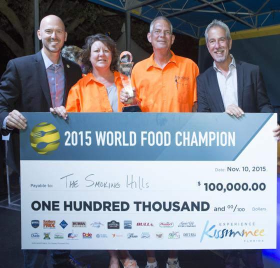 "Barbecue team ""The Smoking Hills"" named 2015 World Food Champions"